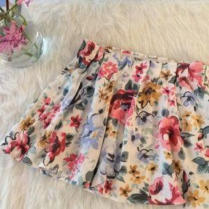 Old Navy Spring Floral Elastic Waist Skirt
